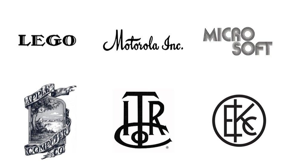 the original logos of tech companies were all terrible