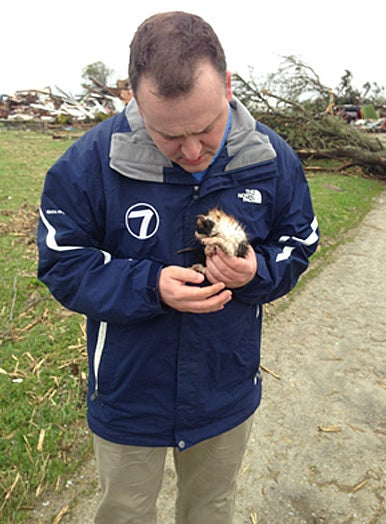 Hero Meteorologist Rescues Kitten from Tornado Rubble in Ohio