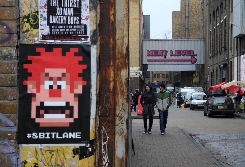 For One Weekend, A Real Street Was Turned Into An 8-Bit Landscape