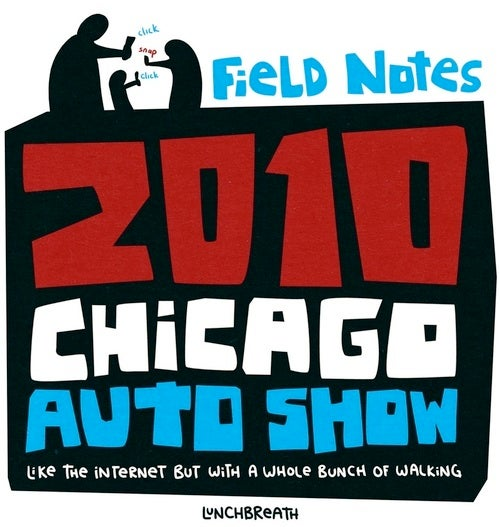 Core77's Chicago Auto Show Field Guide Smells Like Lunchbreath