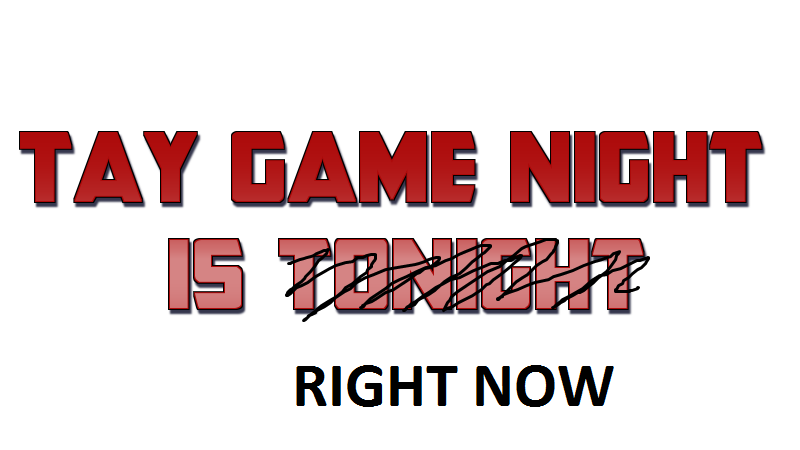 Game Night-Wednesday Sept. 4, 2013: Quick Update