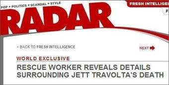 Jett Travolta Story Shows Off RadarOnline's Gossip-Laundering Skills