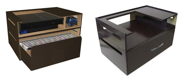 Kangaroom's Stackable Console Storage Holds Games, Consoles