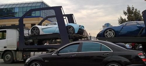 Marussia B2, Russia's Second Super Car, Spotted With Comrades