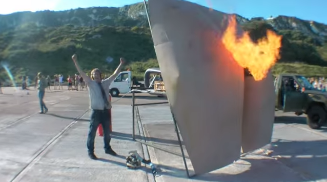 British Inventor Builds Gigantic Butt to Fart at France