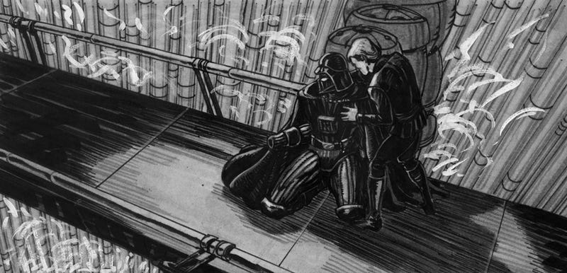 What if the Emperor was more monstrous? Check out some insane Return of the Jedi storyboards!