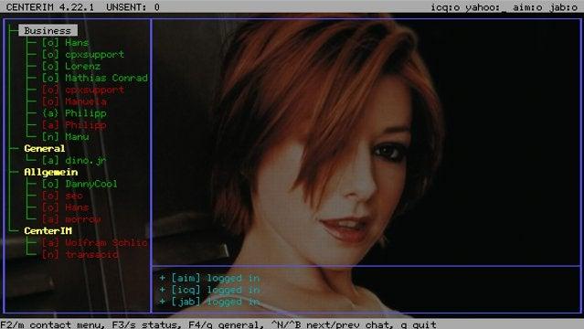 CenterIM is a Linux Command Line Chat Program