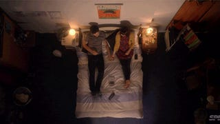 A love story filmedexclusivelylooking down on a bed
