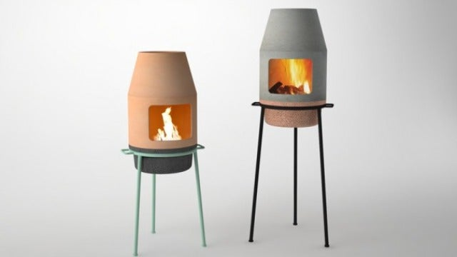 This Pretty, Portable Fireplace Looks Fit to Burn Rocket Fuel