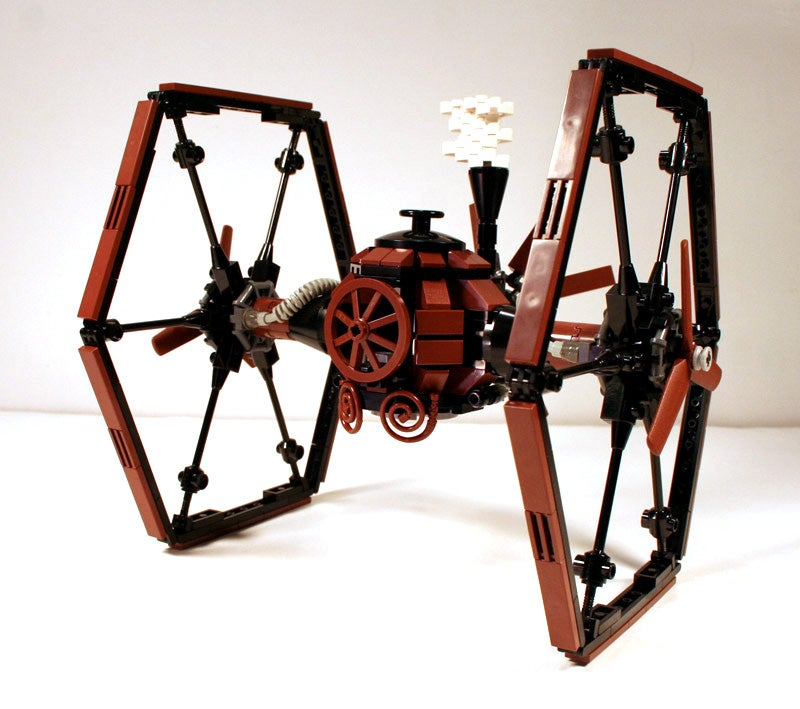 Steampunk LEGO TIE Fighter Beats the Crap Out of X-Wing, Shows Amazing Vision of Star Wars Universe