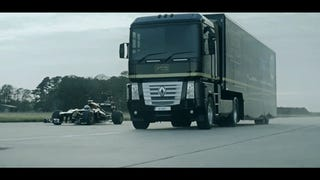 Holy Crap: Truck Jumps An F1 Car And Sets A World Record Doing It