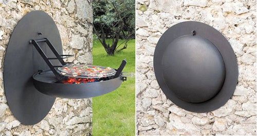 Wall-Mounted Barbecue Pops Down When The Weather's Right