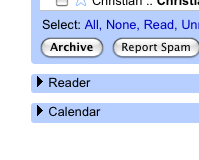 Add Google Reader, Calendar, and Notebook to Gmail