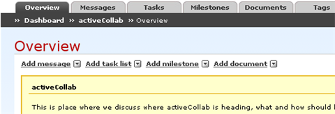 Manage projects online with activeCollab