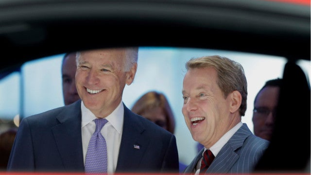 The Many Faces Of Joe Biden At The Detroit Auto Show