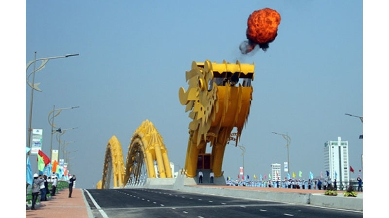 Vietnam Builds a Giant Fire-Breathing Dragon Bridge To Commemorate the End of the War