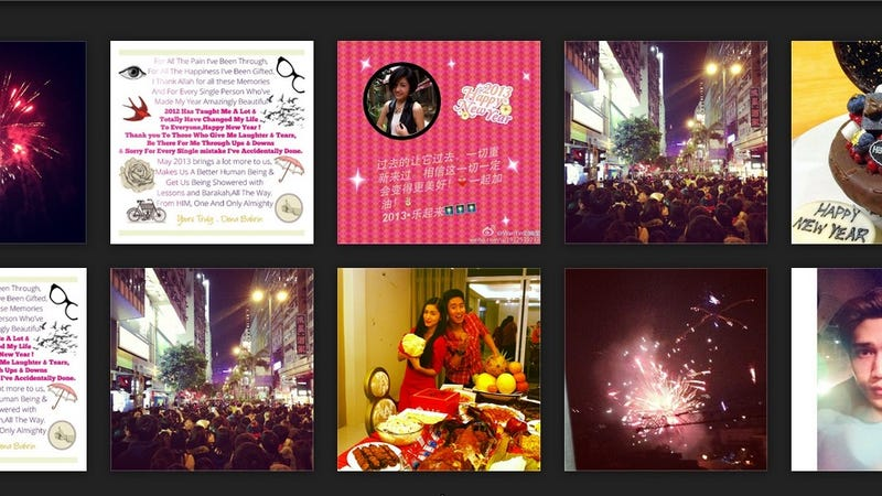 Watch The New Year Roll In By Creeping On Strangers' Instagram Pictures