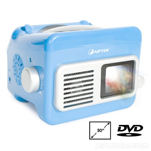 Aiptek's Plastic Portable DVD Projector Lets Your Kids Watch Hannah Montana In Style