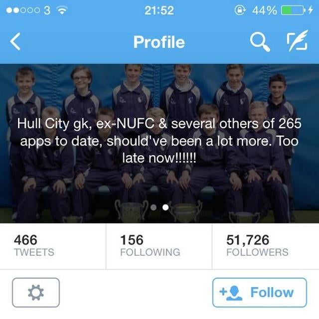 World's Saddest Goalkeeper Also Has The World's Saddest Twitter Bio