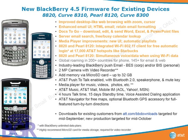 BlackBerry OS 4.5 Finally Gracing AT&T Users in Two Weeks