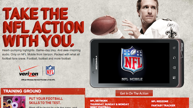 You Can Watch NFL Games for Free If You're a Verizon 4G LTE Customer