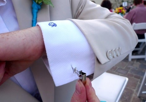 Binder Clips as DIY Emergency Cuff Links