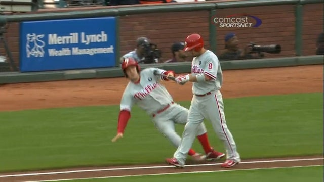 Shane Victorino Could Have At Least Tried To Help The Kid Up