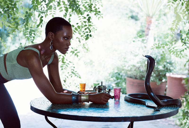 Watch Lupita Nyong'o Overcome Her Fear of Snakes for That Vogue Spread