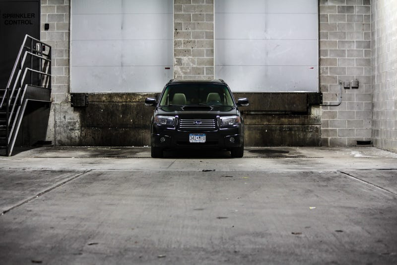 Lowered the Forester on STI suspension