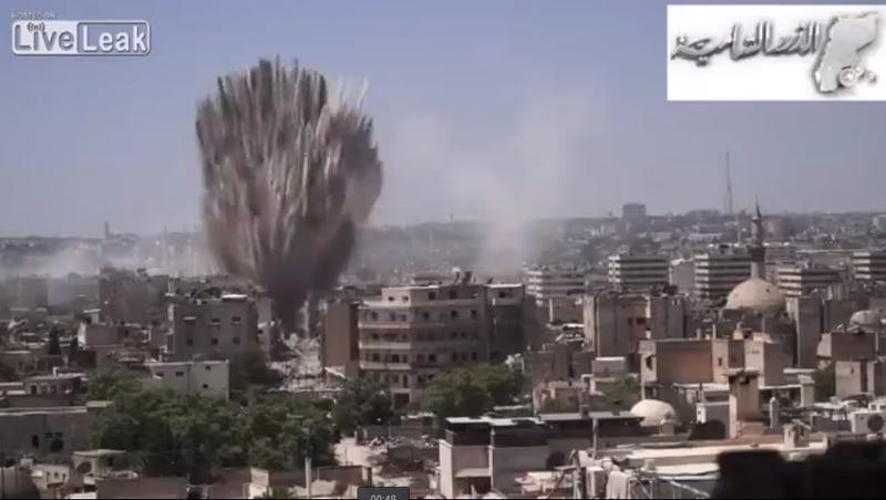 Syrian Military Building Literally Vaporized By A Tunnel Bomb