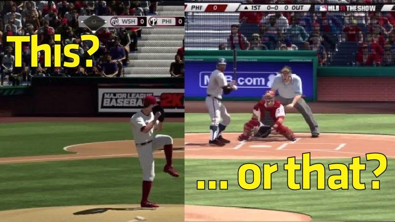 Baseball Rivals Play Dueling Cameras