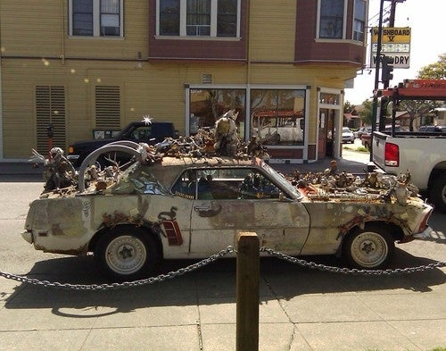 1969 Ford Mustang Art Car Down On The Alameda Street