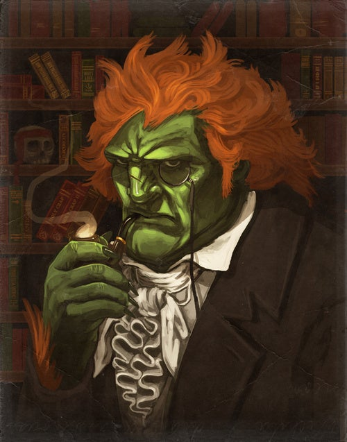 Street Fighter's Blanka? Pipe Smoker
