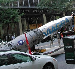 Pfizer Sues Man Over 'Viva Viagra' Rocket • Accidental Brunette Gets Lawsuit Thrown Out