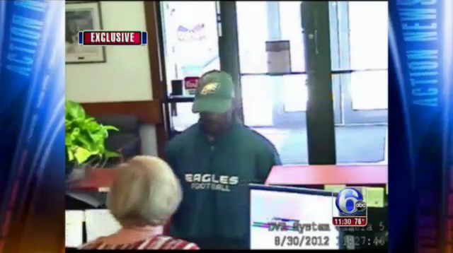 Police Seeking Huge Eagles Fan Wanted For Bank Robbery