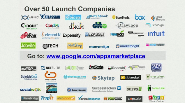 The Google App Marketplace: Doing It All in the Cloud