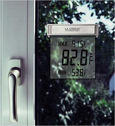 LCD Window Thermometer is a Wall-Mounted Spoiler Alert