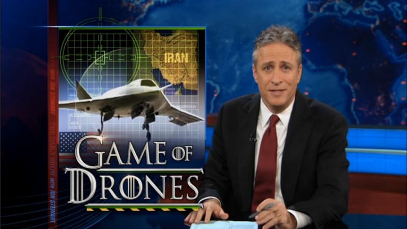 Jon Stewart Investigates the Iranian Drone Capture