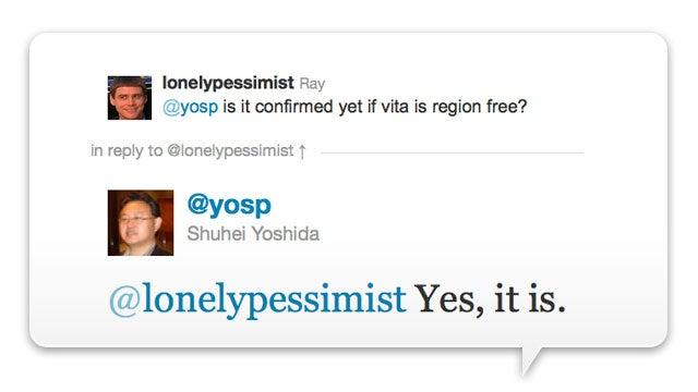 Sony: The PlayStation Vita Is Region-Free
