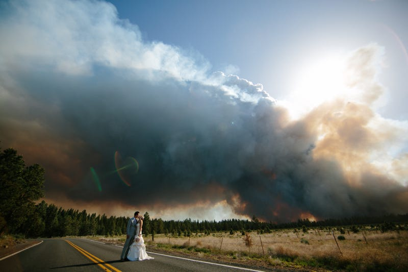 How this couple ended up with the most dramatic wedding pictures ever