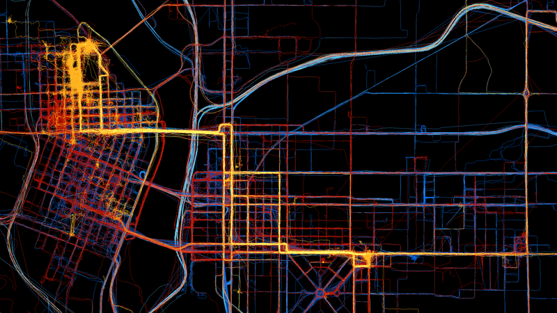 This Is What Three Years of One Person's GPS Data Looks Like