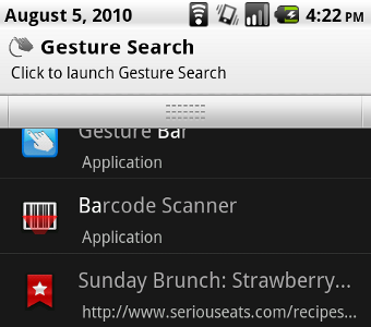 Gesture Search Bar Keeps Android's Gesture Search Close at Hand