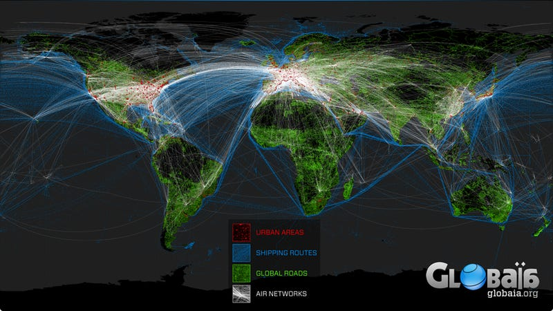 The Map of Human Impact on Planet Earth