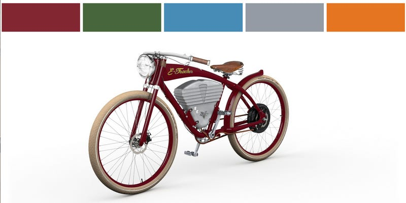 Love Or Hate The Hipster Look, This Vintage Electric Bicycle Looks Fun