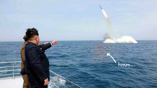 North Korea Successfully Launches Shitty Photoshop of Submarine Missile