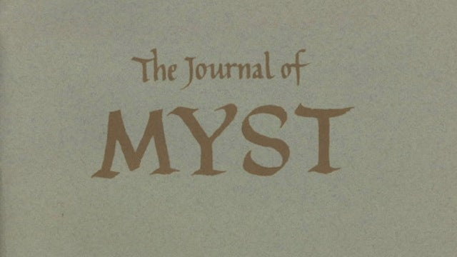 "When I Was A Teenager, I Kept This Myst ""Journal"""