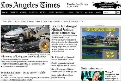 Newspapers Purging Websites of 'News'