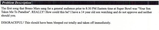 America Hates Male Nipples: FCC Viewer Complaints About The Super Bowl