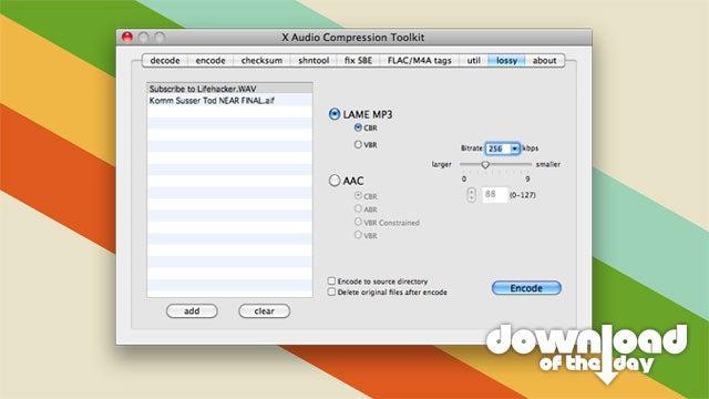 xACT Is a Lightweight Bulk Audio Conversion Tool for the Mac