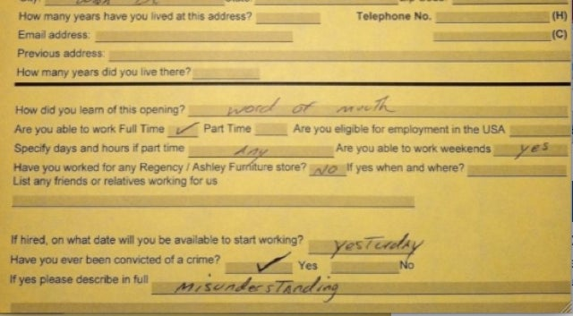 Delonte West's Furniture-Store Job Application Is Absolutely Magical